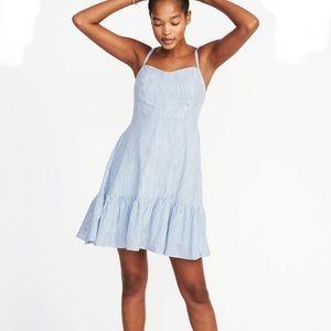 Blue & White Striped Summer Dress